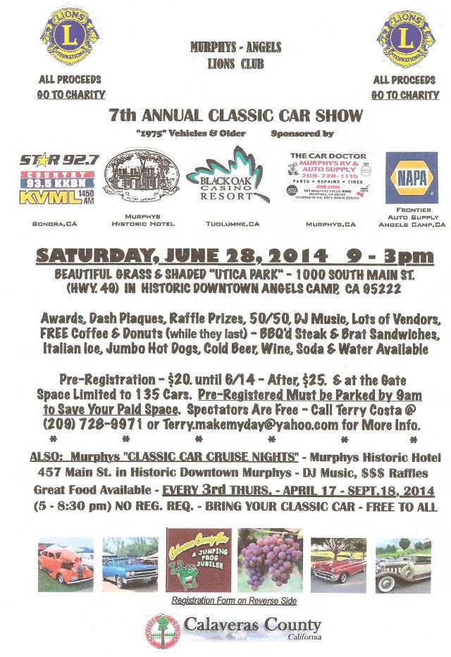 Calaveras News Breaking News For Calaveras County Beyond The - Car show award categories