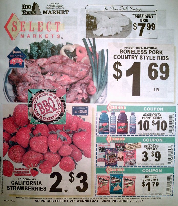 Big Trees Market Weekly Ad for June 20 - 26, 2007
