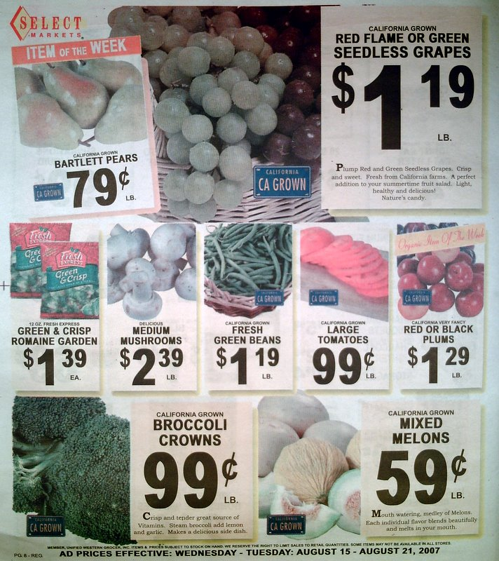 Big Trees Market Weekly Ad for August 15-21, 2007