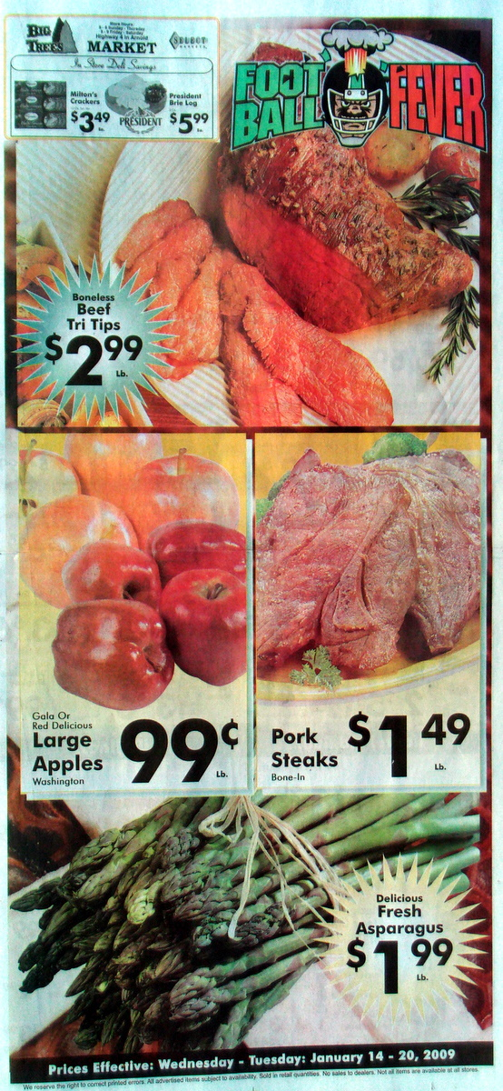 Big Trees Market Weekly Ad for January 14-20, 2009