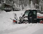 Gene Millers snow blower clearing the driveway ~ By Sanders LaMont