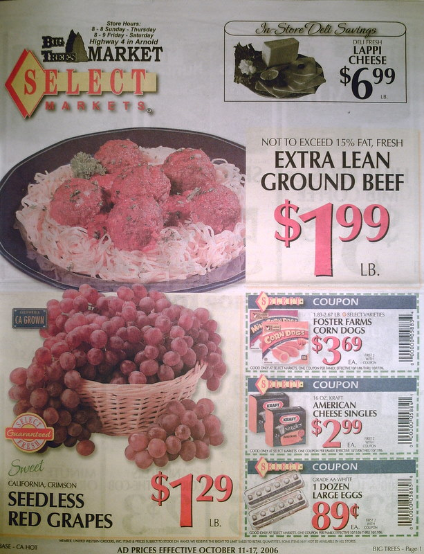 Big Trees Market Ad for October 11-17